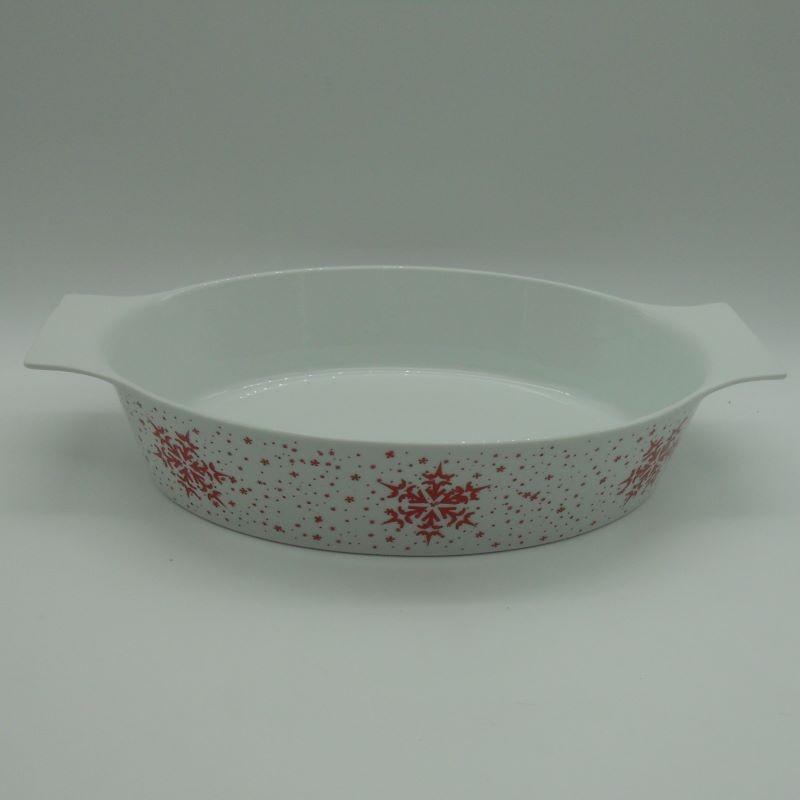 ref.615564C- Tabuleiro oval para forno Jingle Bell
