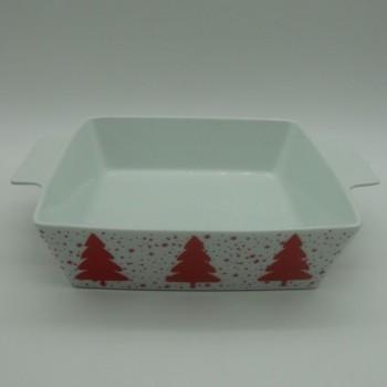 ref.615562C- Tabuleiro quadrado para forno Jingle Bell