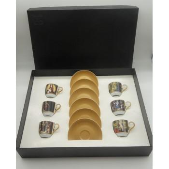 ref.200308-98-03-Colecção de 6 P/chávenas café - Natal 1998-2003 (1/ano)