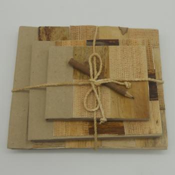 ref.073603 - Conjunto de 3 blocos dde notas de diferentes tamanhos em papel reciclado