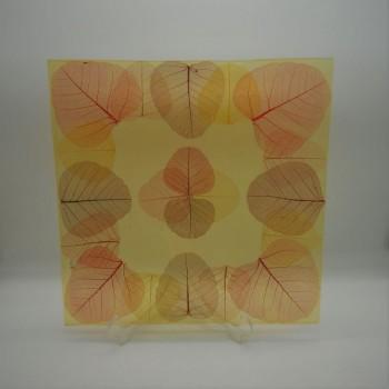 ref.039031 - Prato quadrado 45 cm - folhas
