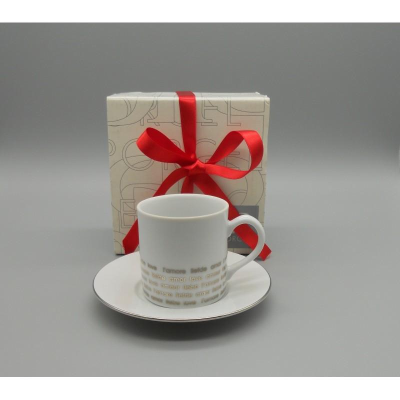 ref.900011- Chávena de café com pires - Amour