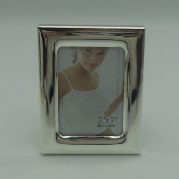 "code 030211 - Silver plated rectangular picture frame 2""x3"""
