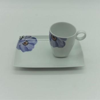 ref.100090B-LL-FL-LI - Conjunto de pequeno almoço - Carré Lily - Flor-Lilás
