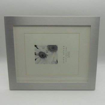 "code 030233 - Silver plated New York picture frame 8""x10""- horizontal"