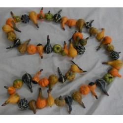 code 073912 - Mini pumpkin garland - 180 cm