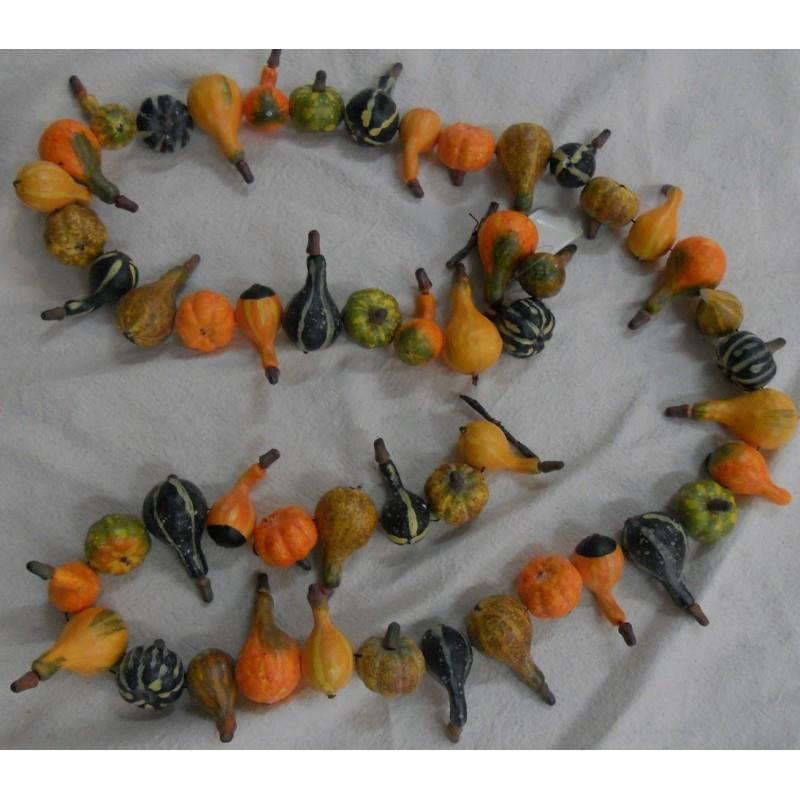 code 073912 - Mini pumpkin garland - 180 cm