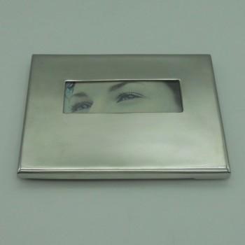"""ref.031205- 15x10- Moldura em estanho 15x10 cm - """"Olhos"""""""