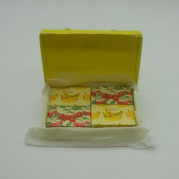 ref.048025-B-2/C-2 - Mini conjunto gift de sabonetes nº2 - banana e cerejas