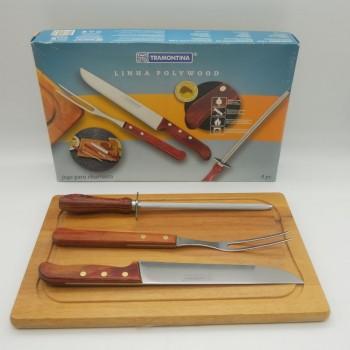ref.070002 - Conjunto de corte para cozinha/churrasco