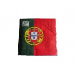 code 073038-Portuguese flag napkin - set of 20
