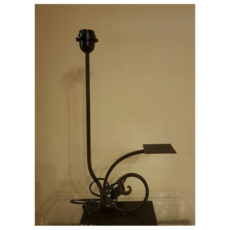 code 032205 - Iron Table Lamp base with candlestick - Foz