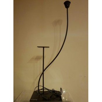code 032207 - Iron Table Lamp base with candlestick - Gold 4004
