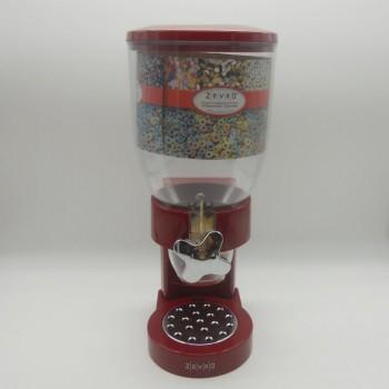 ref.033071 - Doseador/Dispensador de cereais de bancada - encarnado com torneira cromada