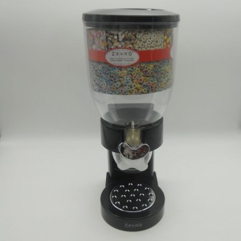 code 033069-Countertop cereal dispenser - black with cromed tap