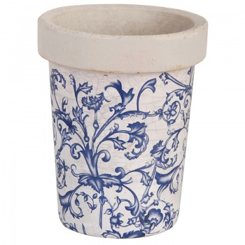 code DCT-AC89 - Long Tom Pot - Blue and White