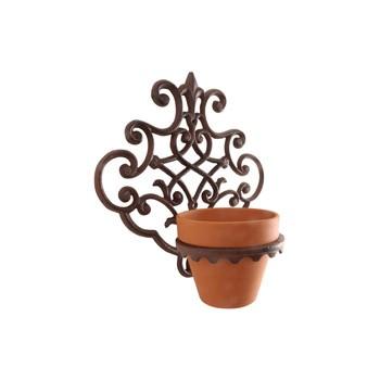 ref.DCT-BPH40 - Floreira de parede grande em ferro - 1 vaso