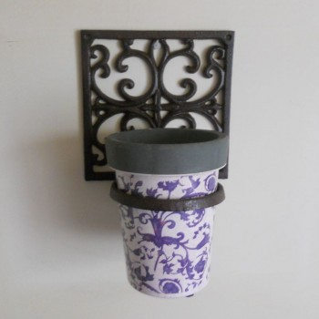 code DCT-BPH14 - Cast iron square flower pot holder with DCT-AC89