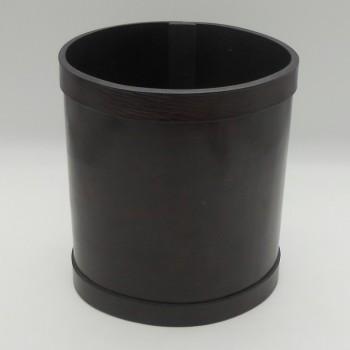 ref.072200 -Papeleira em pele - oval