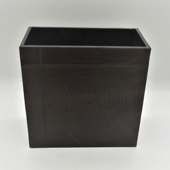 code 072201 - Leather Paper Bin - rectangular