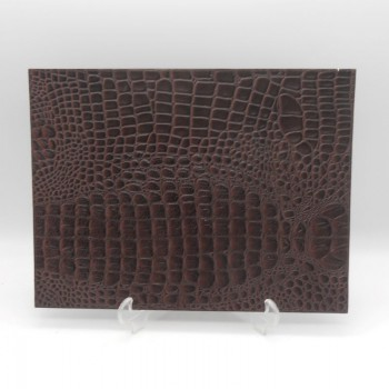 code 072004 - Brown leather table mat - set of 2