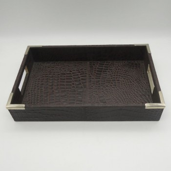 code 072006 - Brown leather tray
