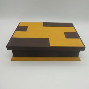 ref.070416 - Caixa para 12 relógios - Castanha e Amarela