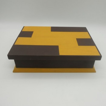code 070416 - Watch box (12 watches) - Brown and Yellow