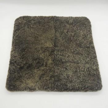 ref.072403 - Capa de almofada em pele de borrego - cinzento nevado - frente