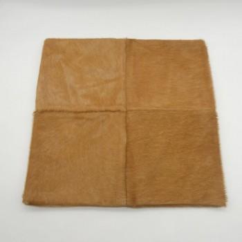 ref.072402-4R - Capa de almofada em pele de cavalo - 4 retalhos - frente