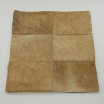 072402-6R - Capa de almofada em pele de cavalo - 6 retalhos - frente