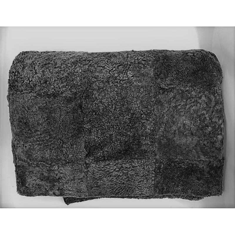 ref. 072401-180x240-Tapete em pele de borrego - cinzento nevado-frente