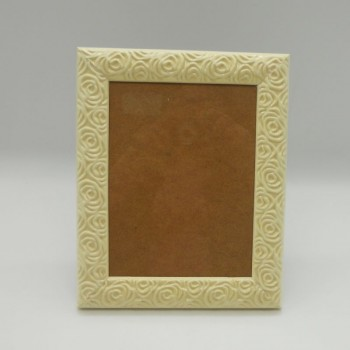 code 070421-L-OW - Flowers photo frame - Large - Off White - vertically