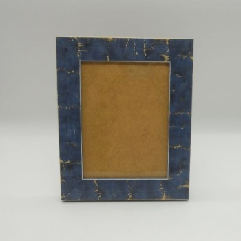 code 070422-L-AZ - Foam photo frame - large - blue -vertical