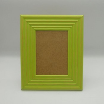 code 070423-L-VP - Corrugated photo frame - large - pistacchio green - vertical