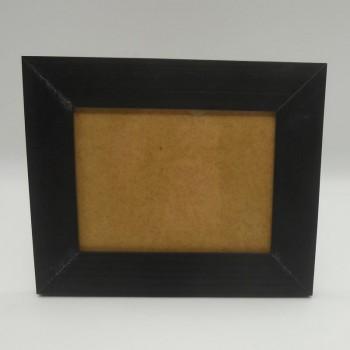 code 070425-L-CT-False plain photo frame - large - brown-horizontal