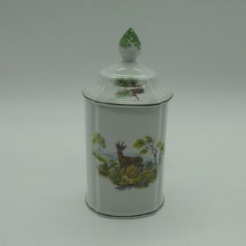 code - 800079D-LA-N2-V4-C2 - Porcelain box - doe and hare - one side