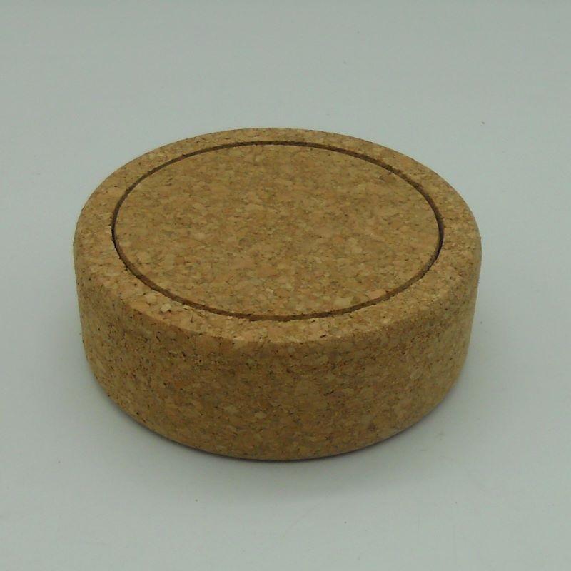 ref.VK-1208 - Suporte para garrafa com 6 bases para copos em cortiça