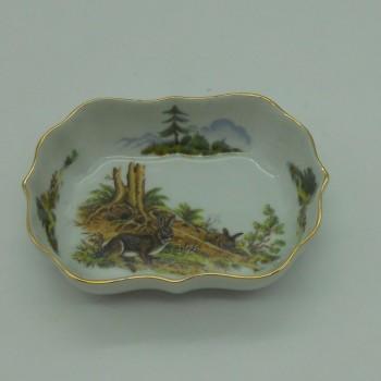 code 800081D-T-C1 - Rectangular bowl/Ashtray - wild rabbit