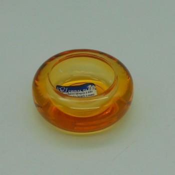 ref.015207-LA-Porta tealight em vidro colorido - laranja - conjunto de 4