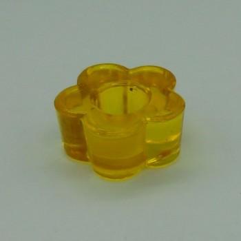 ref.015208-AM- Castiçal flor - amarelo - conjunto de 2