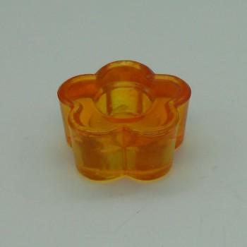 ref.015208-LA-  Castiçal flor - laranja - conjunto de 2