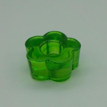 code 015208-VE- Candlestick - Green flower - set of 2