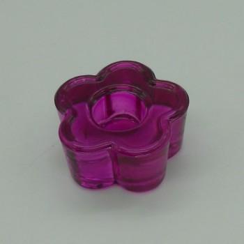 code 015208-VI - Candlestick - Violet flower - set of 2