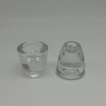 ref.015212-00-Castiçal/porta-tealight em vidro - pequeno  - conjunto de 2