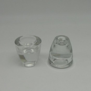 code 015212-00- Glass candlestick/tealight holder - small - set of 2