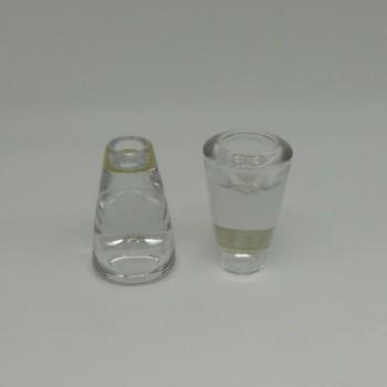 ref.015211-00- Castiçal/porta-tealight em vidro - grande  - conjunto de 2