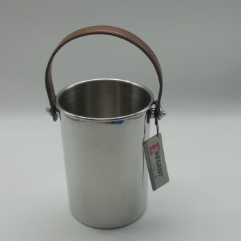 code 030079-CT - Ice bucket with brown lether handle