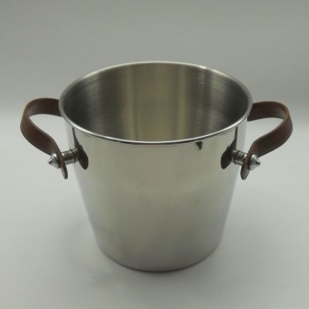 code 030080-CT - Champagne bucket - brown leather handles