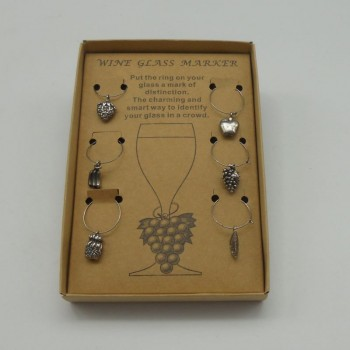 code 030015 - Wine glass Marker - Fruits - set of 6